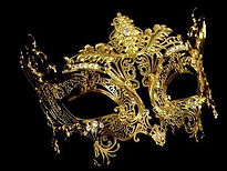 Masquerade Masks Gold for New Years Eve Masquerade Ball Party with Gatsby Theme in New Jersey