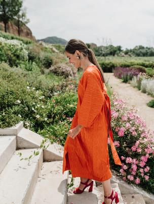 Vestido oversize a medida naranja