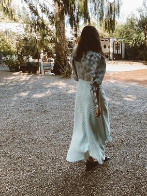 Vestido de invitada a medida en vichy