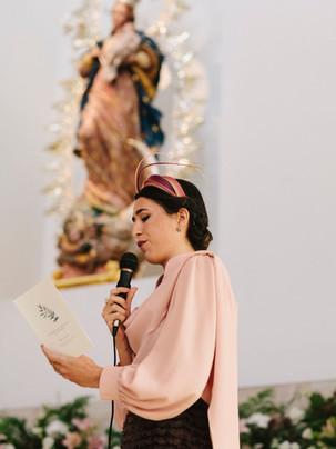 Invitada de boda Poydel en rosa