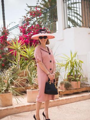 Vestido rosa de invitada a medida