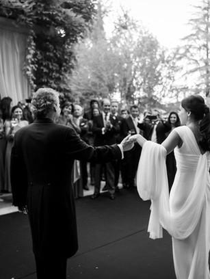 Vestido de novia a medida con tul