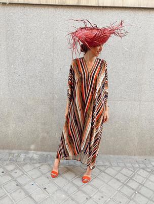 Vestido de invitada a medida oversize de colores