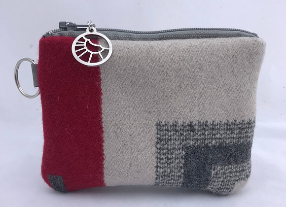 Grey Corner Card Wallet