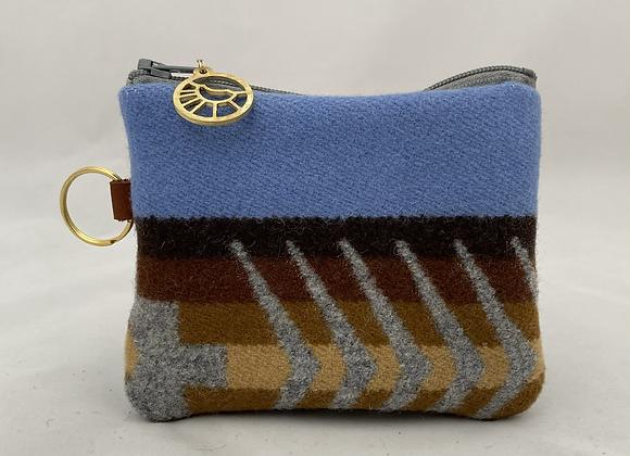 Brown Stripe Card Wallet