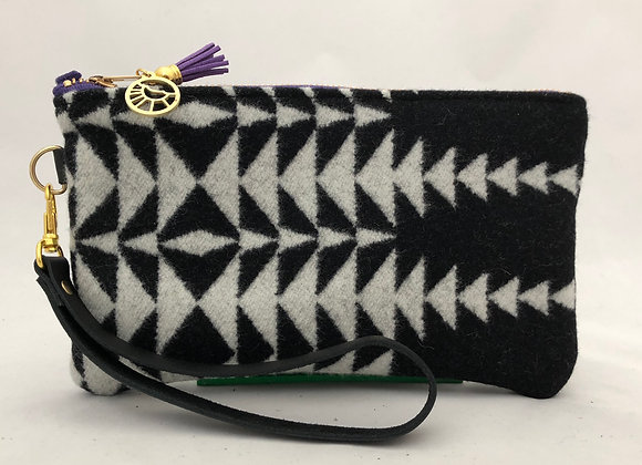 Purple Zip Flipside Clutch