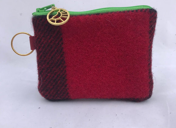 Red, Black & Bright Card Wallet