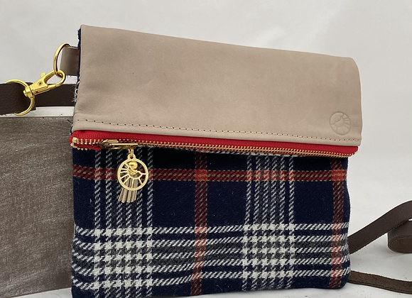 Navy Plaid Crossbody No. 2