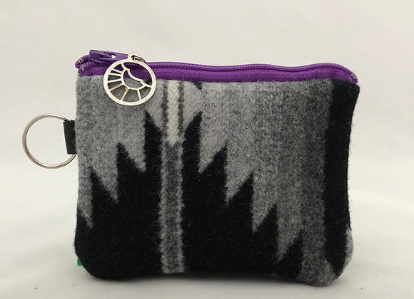 Grey Purple Card Wallet