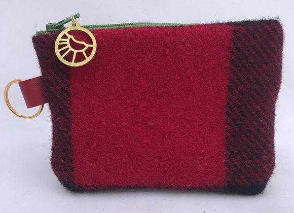Red, Black & Grass Card Wallet