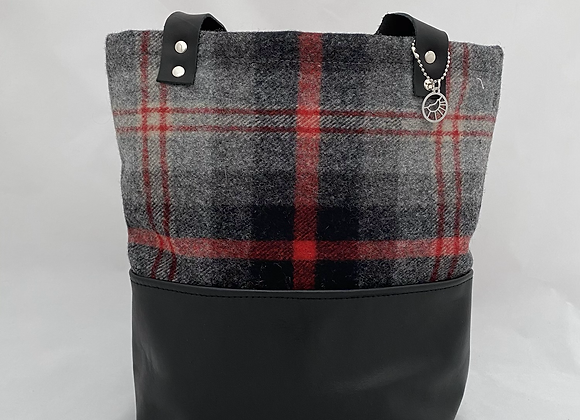 Grey & Red Plaid Daily Tote