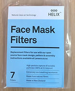 Helix.iso face mask replacement filters