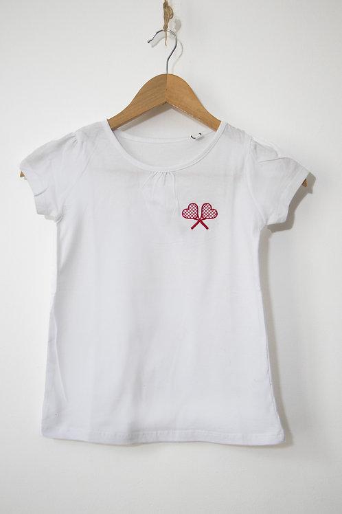 T-shirt enfant avec raquettes brodées