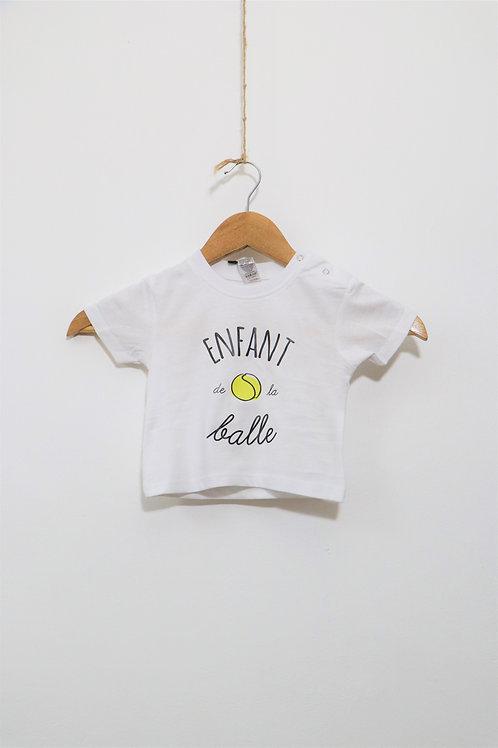 """T-shirt bébé """"Enfant de la balle"""""""