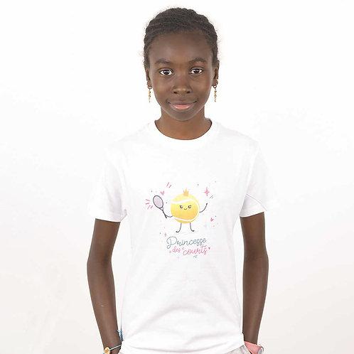 """T-shirt enfant """"Princesse des courts"""""""