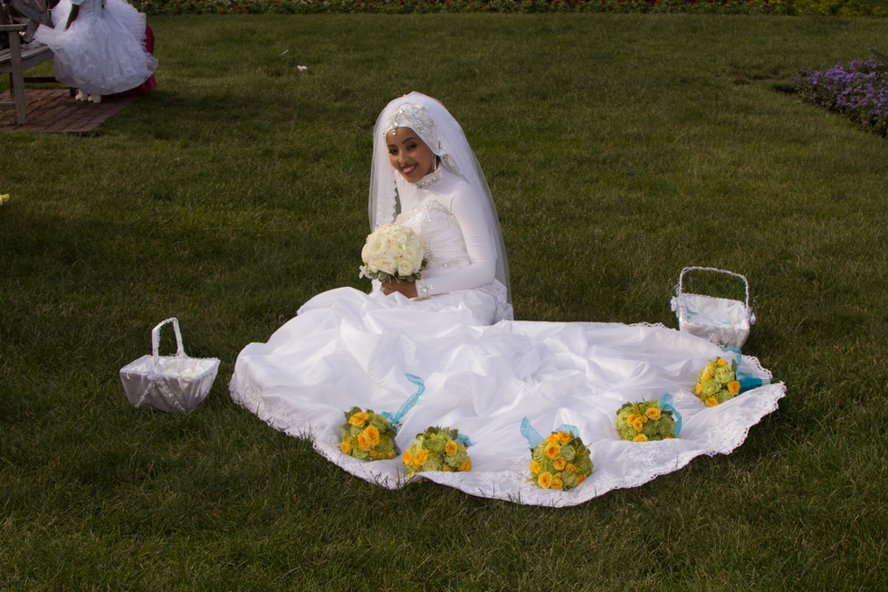 Bride on the field