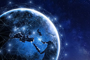 Global communication network around plan
