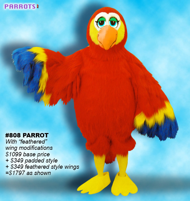 Facemakers Parrot Mascot Costumes