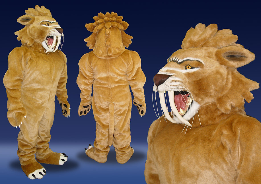 Facemakers sabre-toothed lion mascot costume
