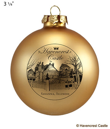 Havencrest Christmas Ornament, GOLD Ball