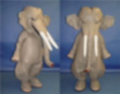 Facemakers Asian Elephant Mascot Costumes