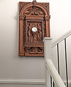 RMS Titanic clock on a contemporary staircase