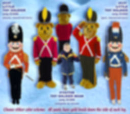 Facemakers Toy Soldier Bear mascot costumes