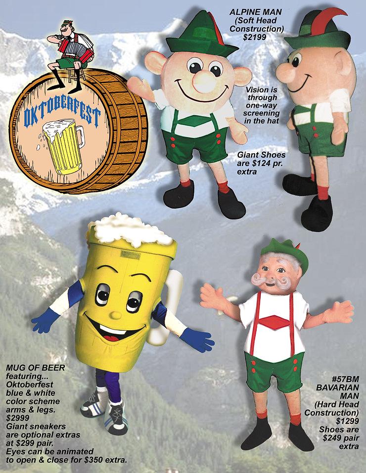 Facemakers Oktoberfest Mascot Costumes