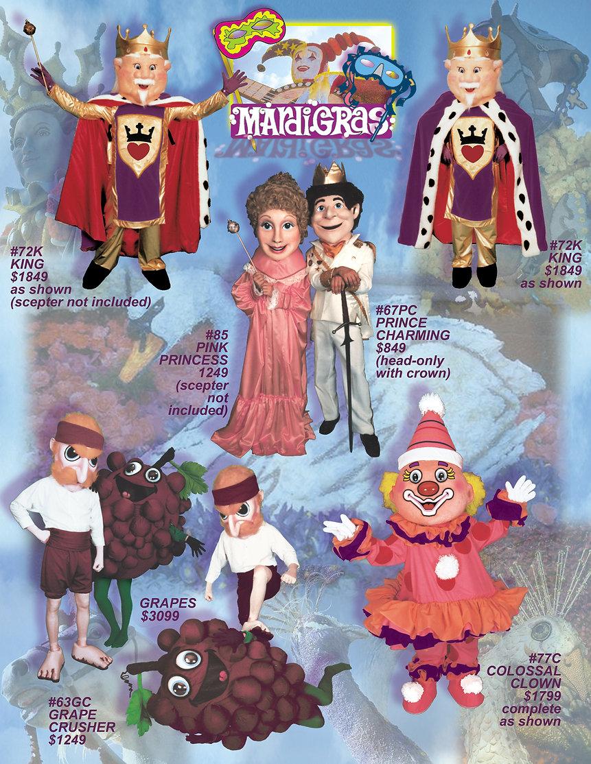 Facemakers Mardi Gras Parade Mascot Costumes