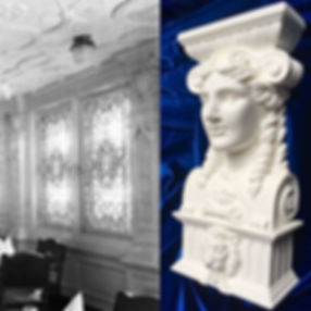 RMS Titanic/Olympic Dining Room Goddess Head is reborn for collectors.