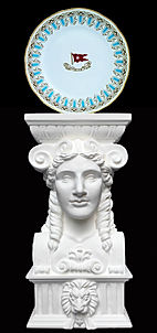 Our Titanic goddess head is the perfect way to display your Titanic dinnerware.