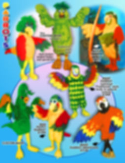 Facemakers Parrots Mascot Costumes