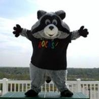 Rocky the Writing Raccoon Mascot Costumes