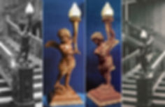 New images of Titanic's famous cherub lamp revealed by Titanic sculptor Alan St George.
