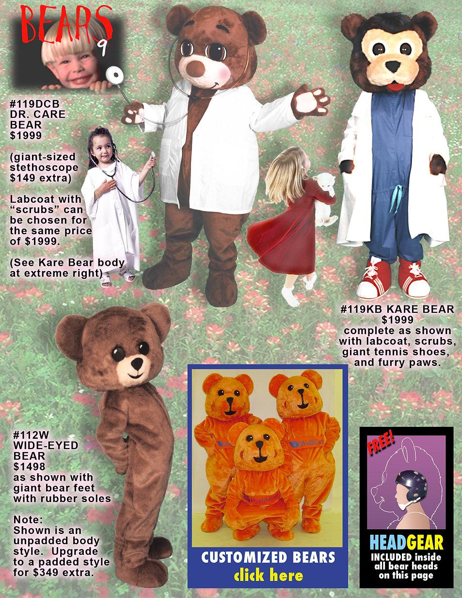 Facemakers Hospital & Pediatrics Mascot Costumes