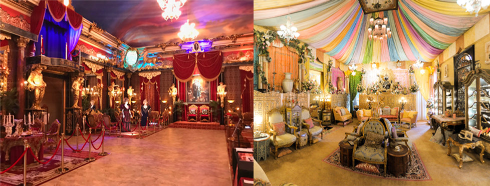 Havencrest Castle's grand ballroom and Persian Suite