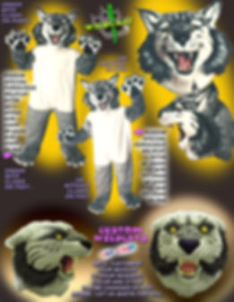 Facemakers Bobcat/wildcat mascot costumes