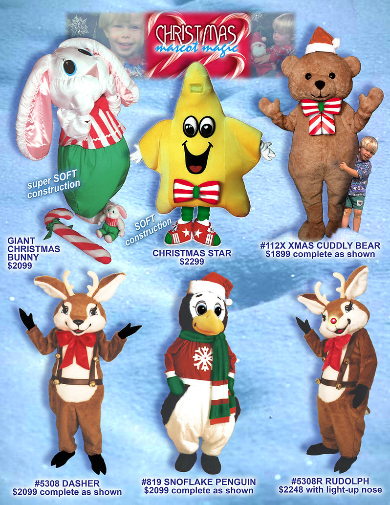 Facemakers Christmas Mascot Costumes