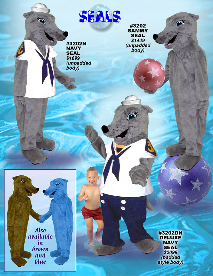 Facemakers Seal Mascot Costumes
