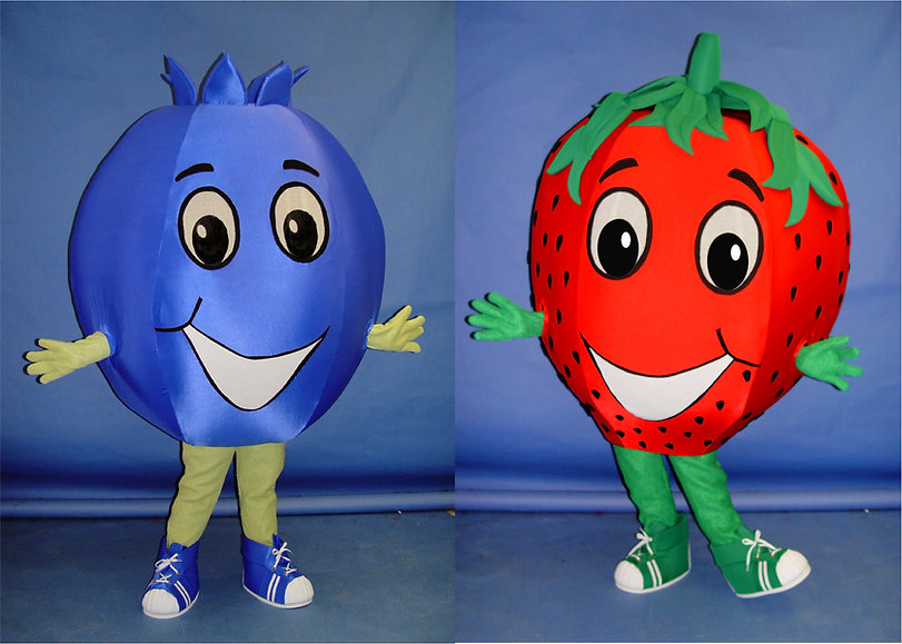 Facemakers Strawberry Mascot Costumes