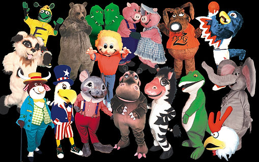 Facemakers Mascot Costumes made in USA