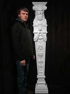 Titanic god caryatid from the First-class Dining Saloon by sculptor Alan St George