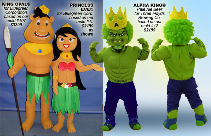 Facemakers King-Princess Mascot Costumes