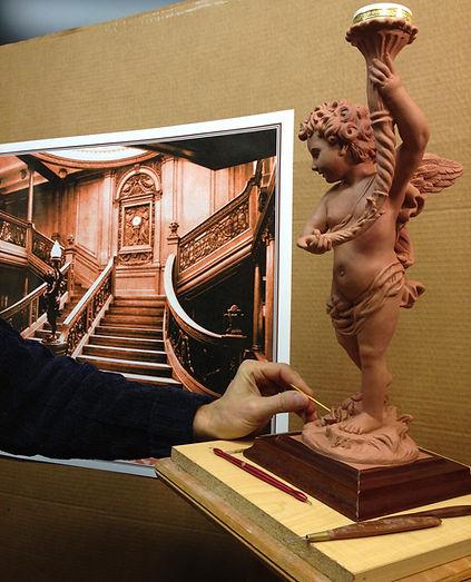 Sculpting RMS Titanic's Cherub Lamp