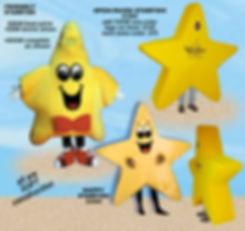 Facemakers Starfish Mascot Costumes
