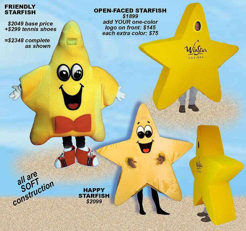 Facemakers Starfish Mascot Costumes
