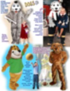 Facemakers Dalmatian Dog mascot costumes