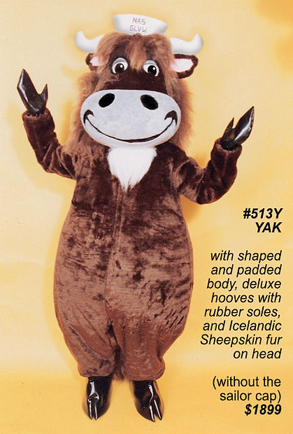 Facemakers Yak Mascot Costume