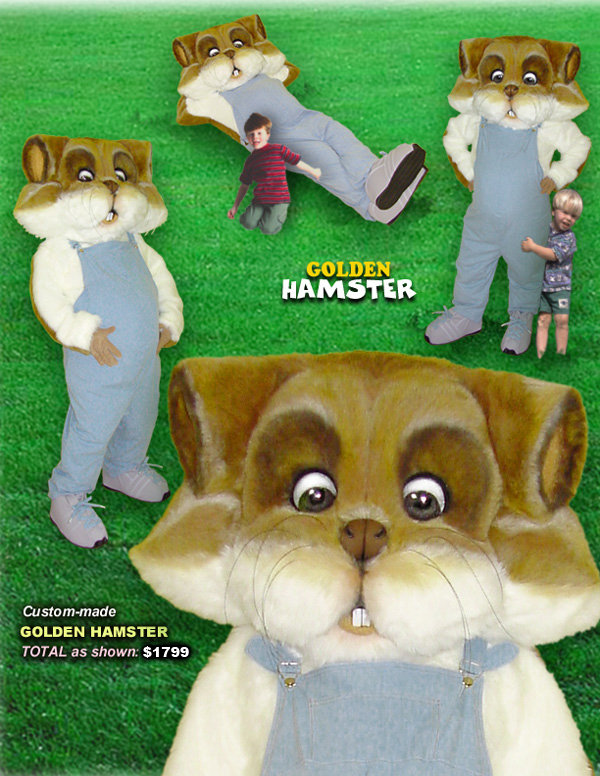 Facemakers Hamster Mascot Costumes