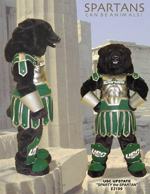 Facemakers Spartan Mascot Costumes
